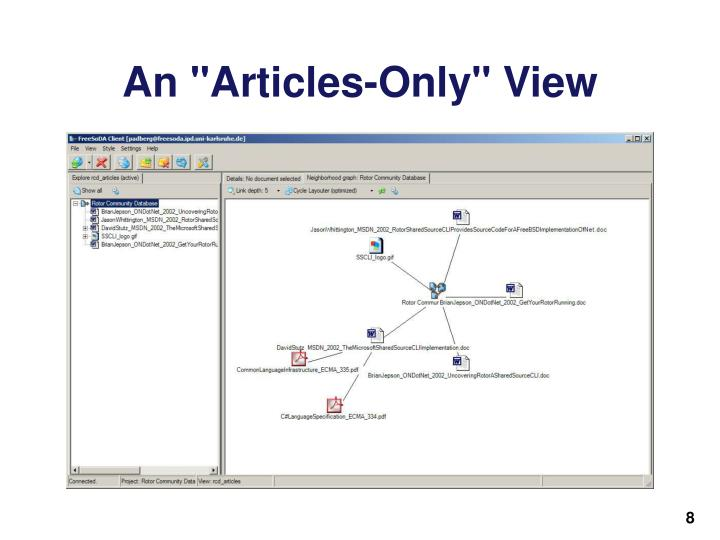 """An """"Articles-Only"""" View"""