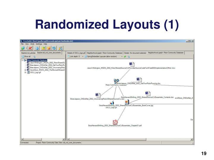 Randomized Layouts (1)