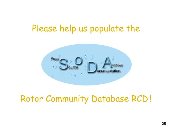 Please help us populate the