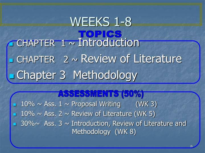 WEEKS 1-8