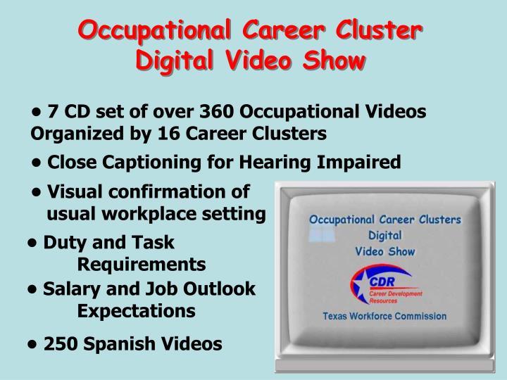 Occupational Career Cluster Digital Video Show