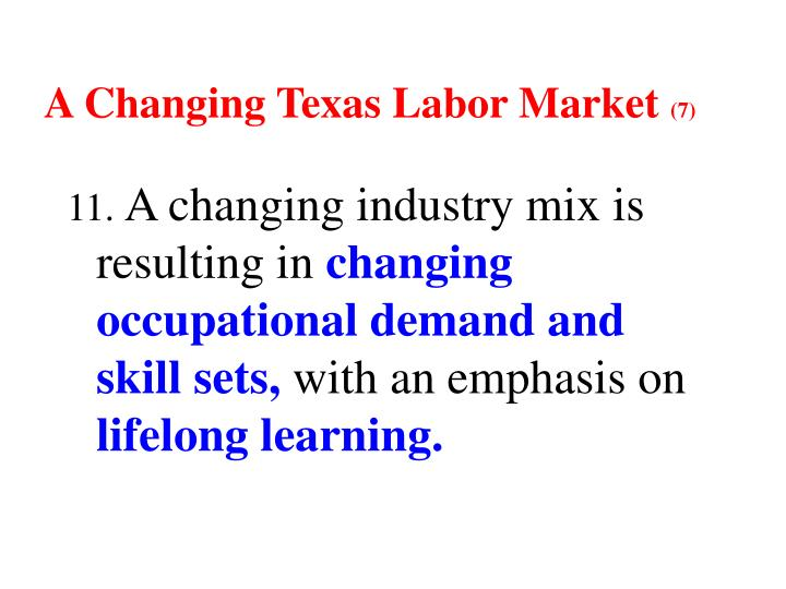 A Changing Texas Labor Market