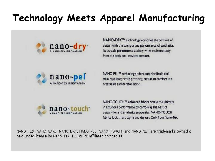 Technology Meets Apparel Manufacturing