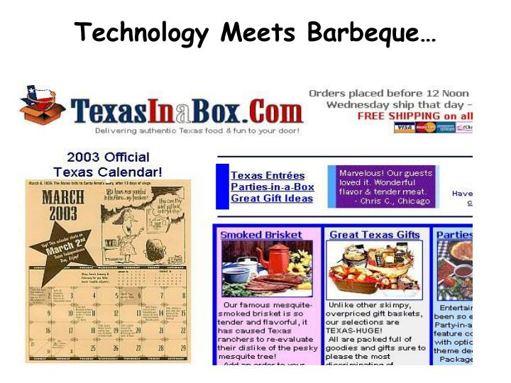 Technology Meets Barbeque…