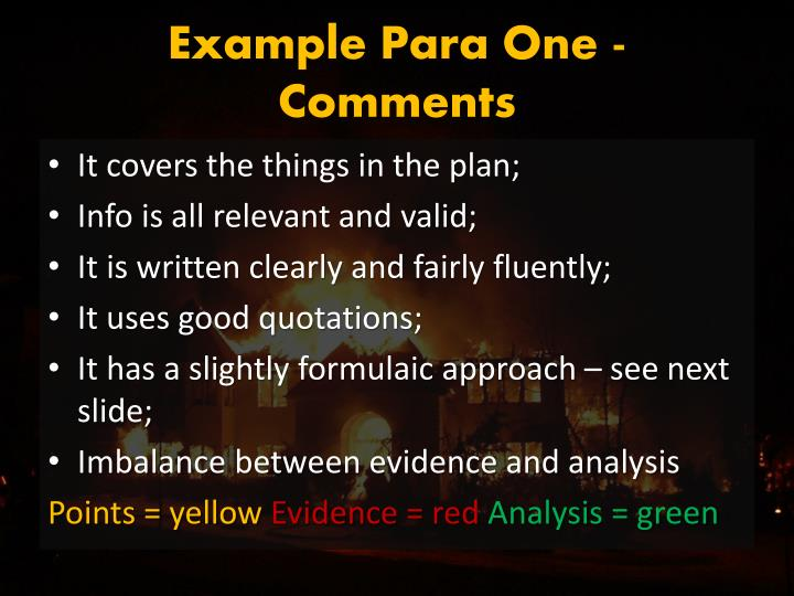 Example Para One - Comments