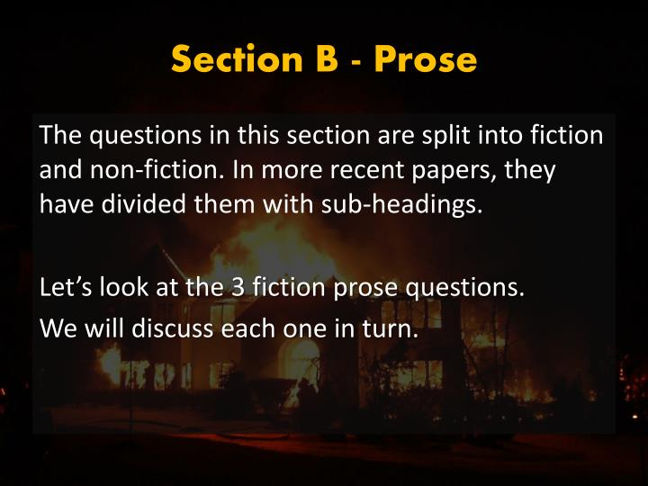 Section B - Prose