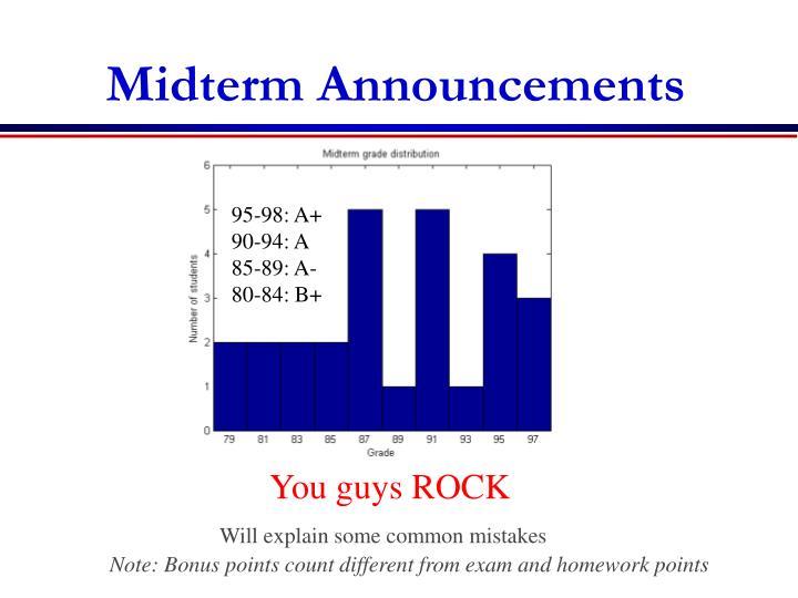 Midterm Announcements