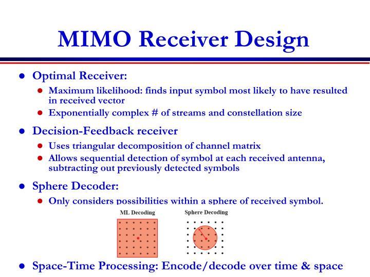 MIMO Receiver Design