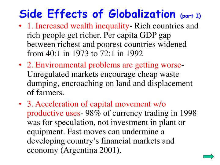 Side Effects of Globalization