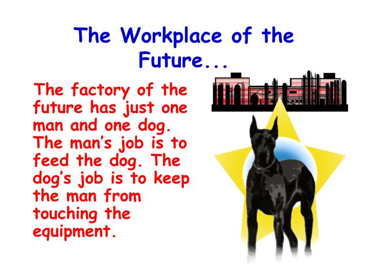 The Workplace of the Future...