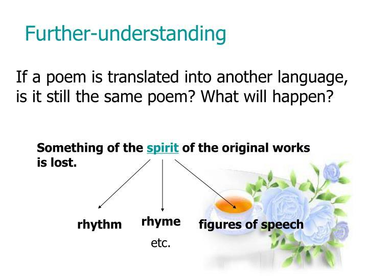 Further-understanding