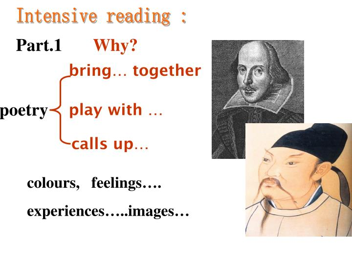Intensive reading :