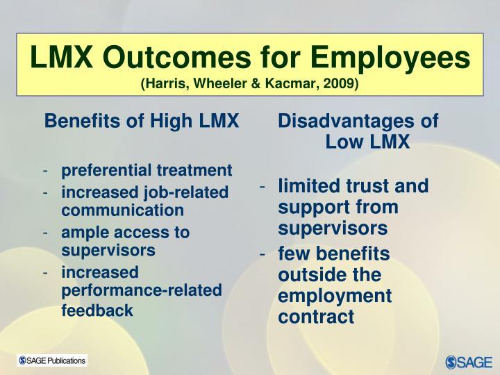 Benefits of High LMX