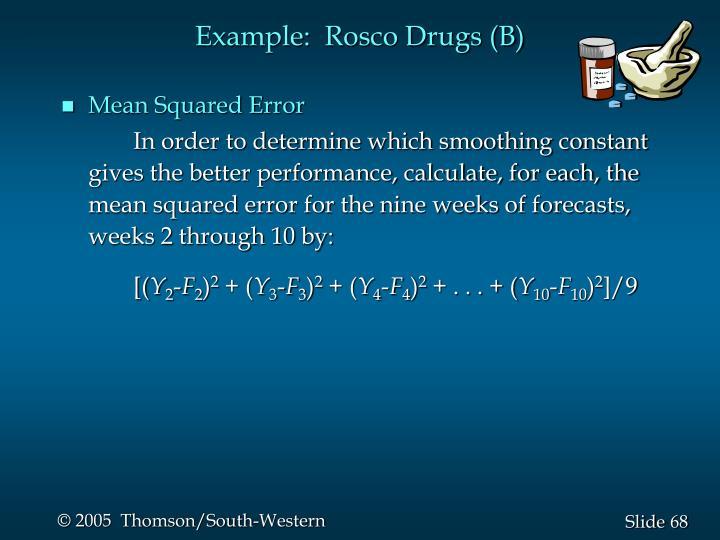 Example:  Rosco Drugs (B)