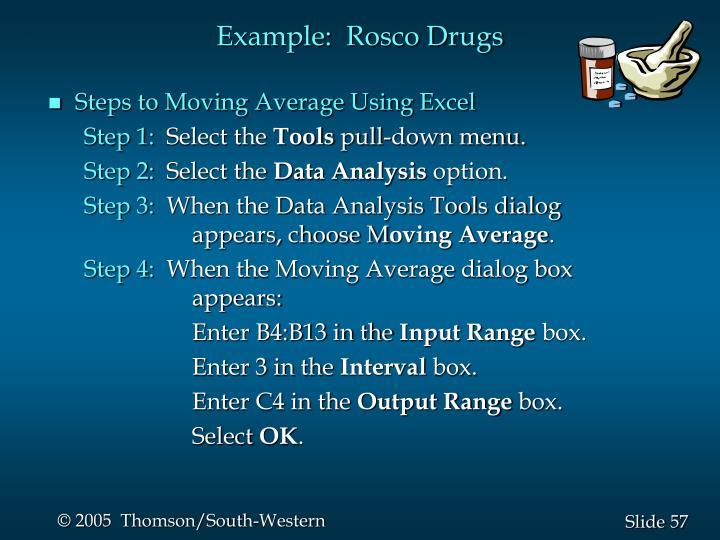 Example:  Rosco Drugs