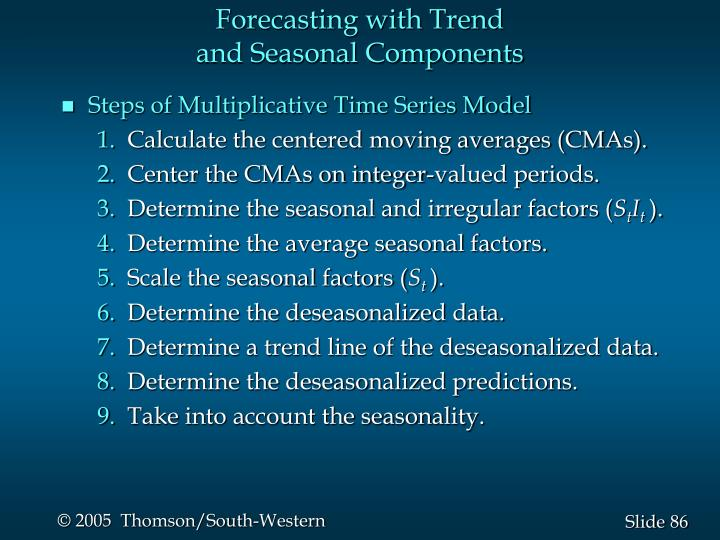 Forecasting with Trend