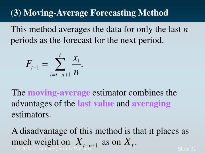 (3) Moving-Average Forecasting Method