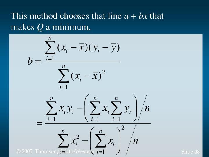 This method chooses that line