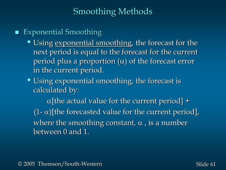 Smoothing Methods
