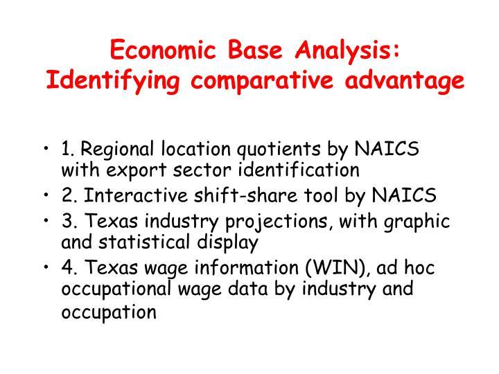 Economic Base Analysis: