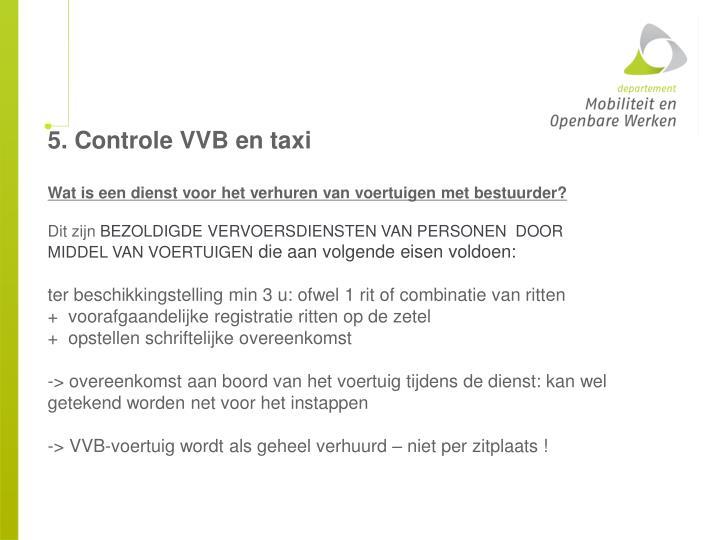 5. Controle VVB en taxi