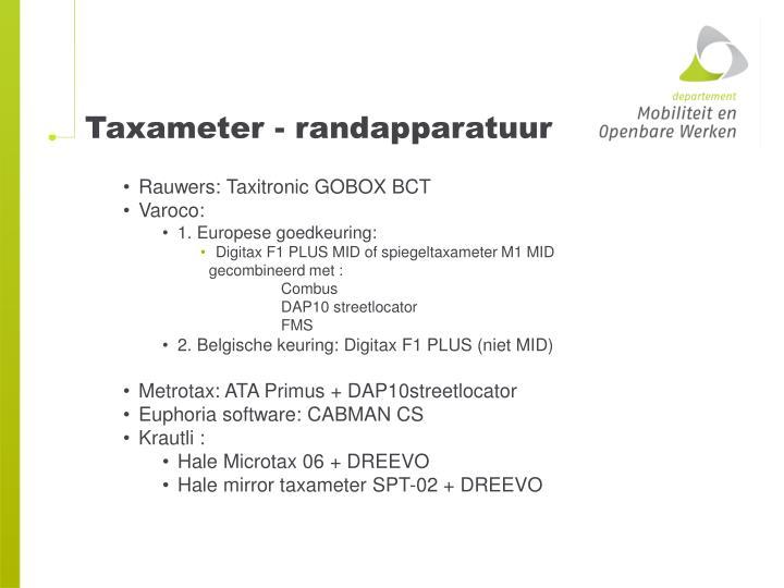 Taxameter - randapparatuur