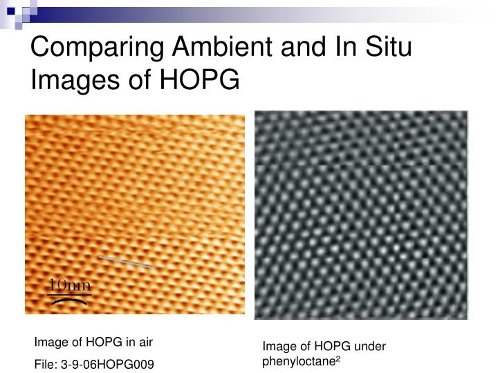 Comparing Ambient and In Situ Images of HOPG