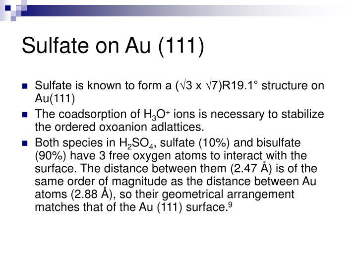 Sulfate on Au (111)