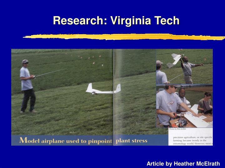 Research: Virginia Tech