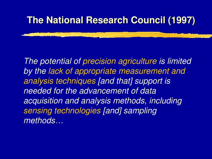 The National Research Council (1997)
