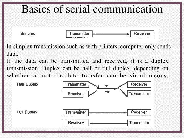 Basics of serial communication