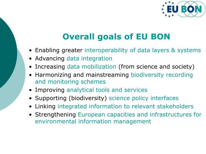 Overall goals of EU BON