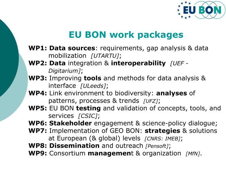 EU BON work packages