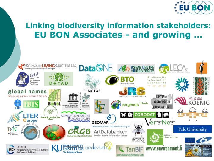 Linking biodiversity information stakeholders: