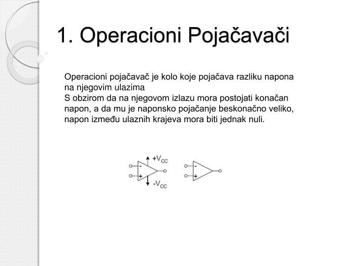 1. Operacioni Pojačavač