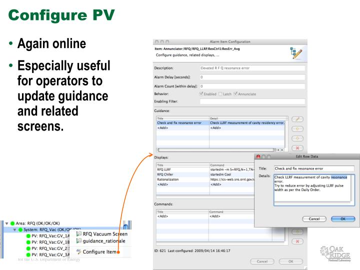 Configure PV