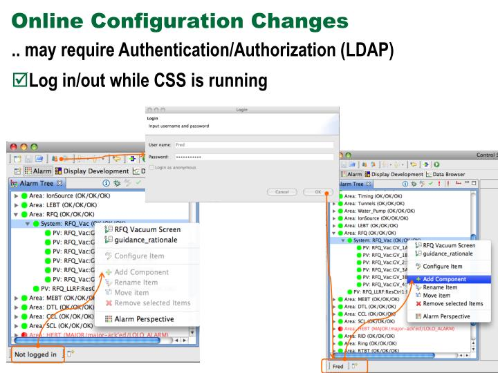 Online Configuration Changes
