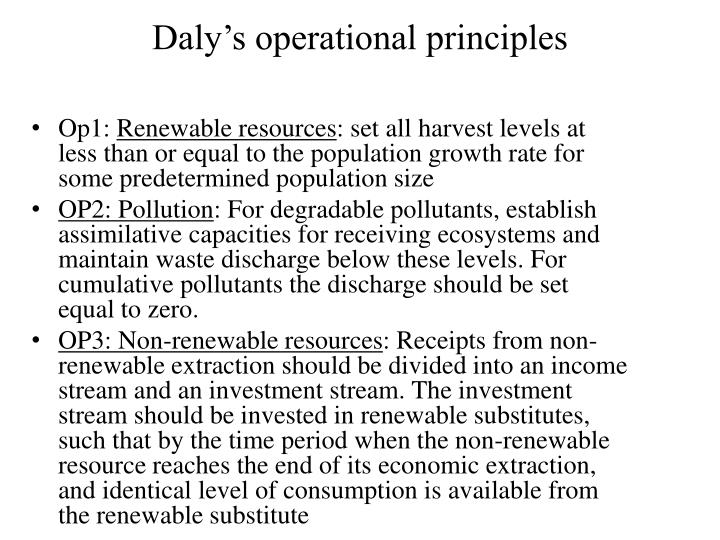 Daly's operational principles