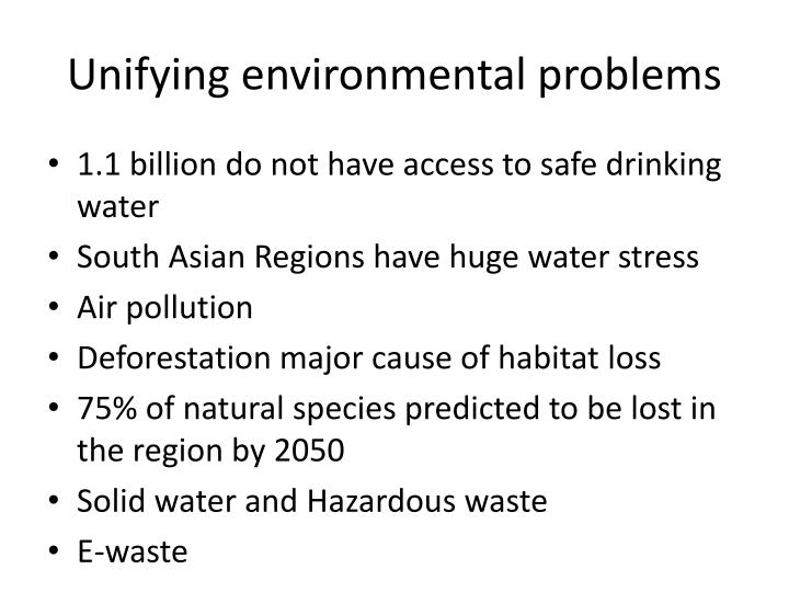 Unifying environmental problems