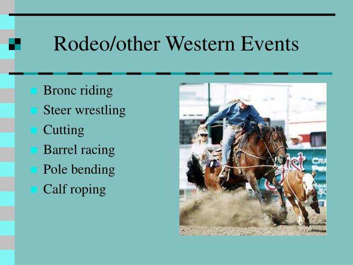 Rodeo/other Western Events