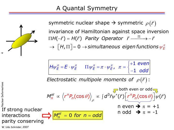 A Quantal Symmetry