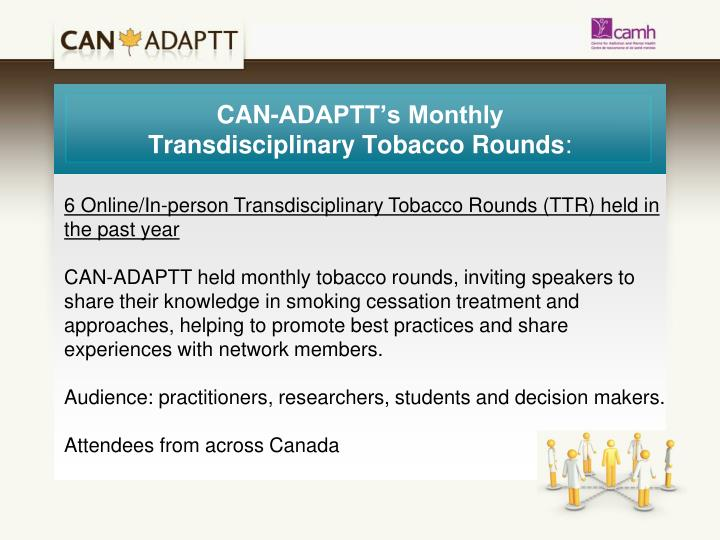 CAN-ADAPTT's Monthly