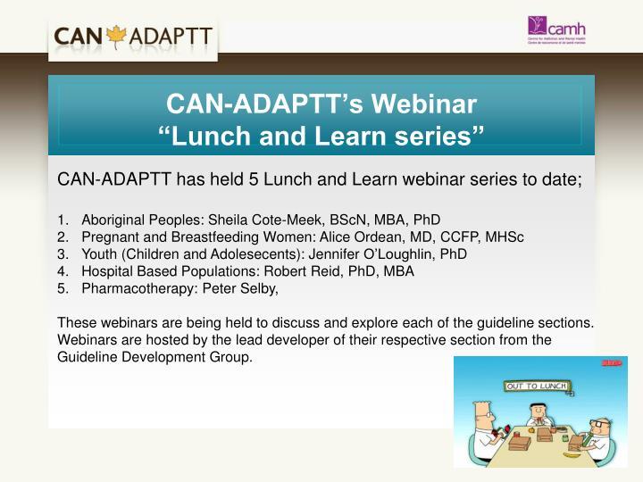 CAN-ADAPTT's Webinar