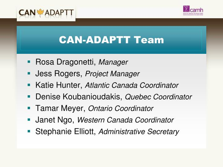 CAN-ADAPTT Team