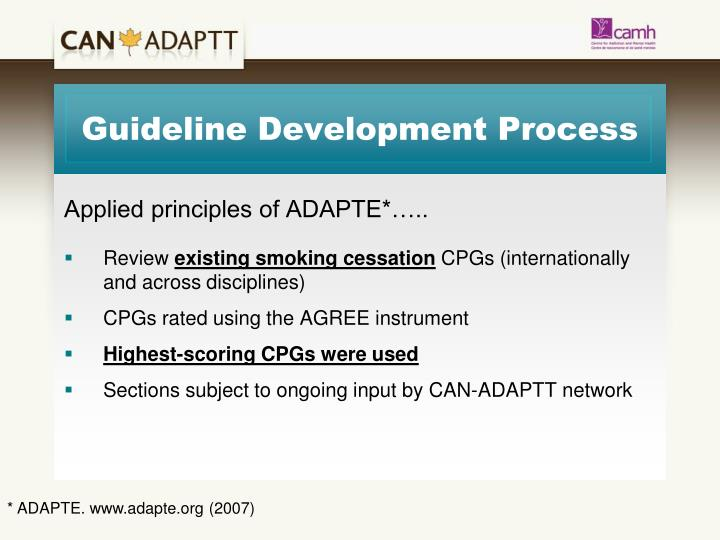 Guideline Development Process