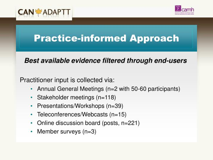 Practice-informed Approach