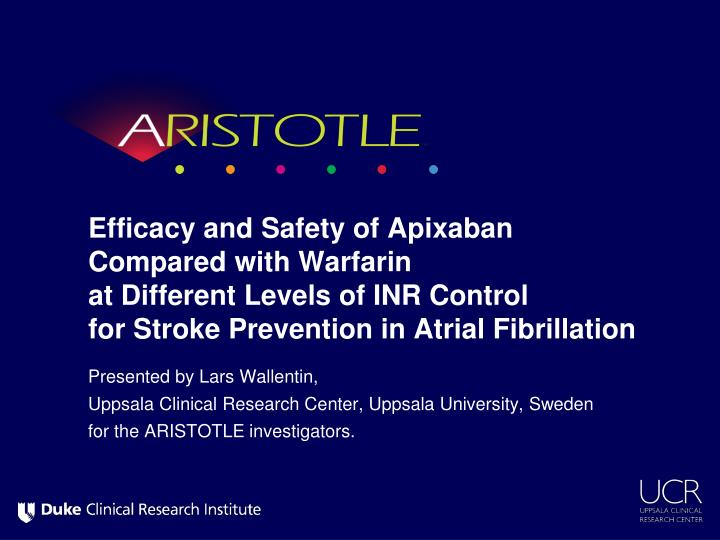 Efficacy and Safety of Apixaban