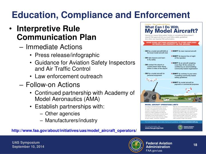 Education, Compliance and Enforcement