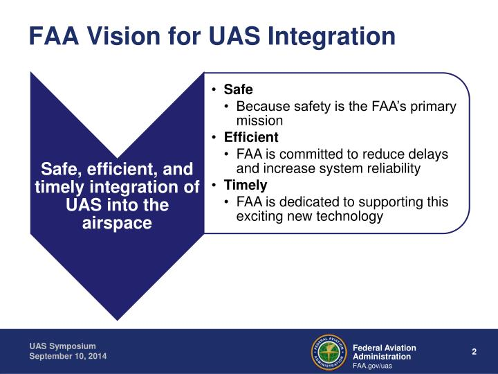 Faa vision for uas integration