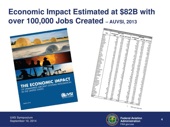 Economic Impact Estimated at $82B with over 100,000 Jobs